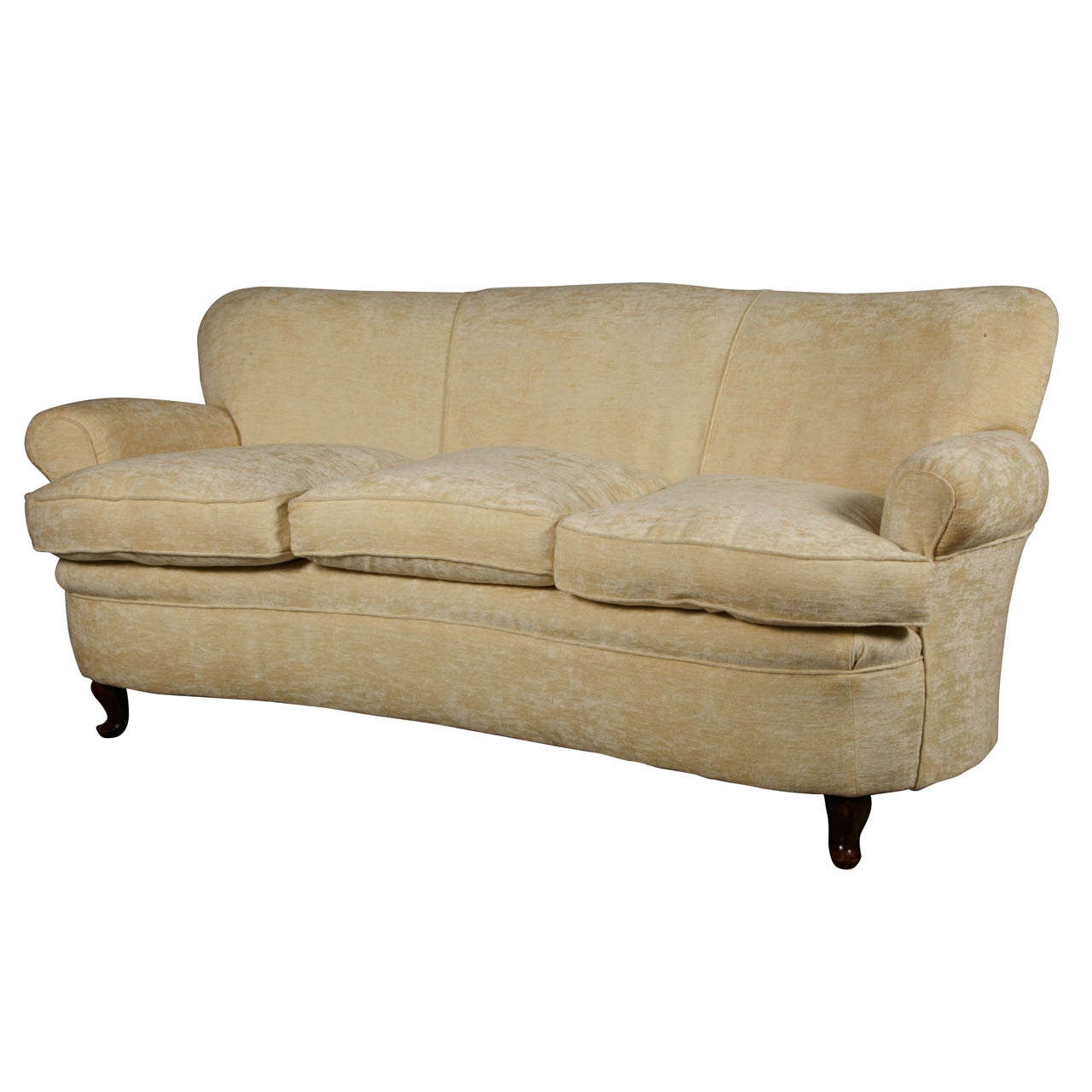 1950s italian curved sofa settee at 1stdibs