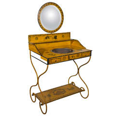French Charles X Painted Tole Vanity.