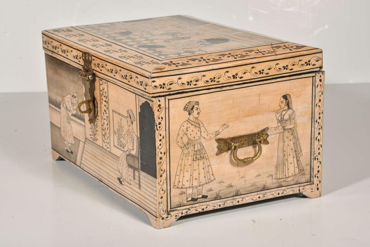 20th Century Camel Bone Box For Sale