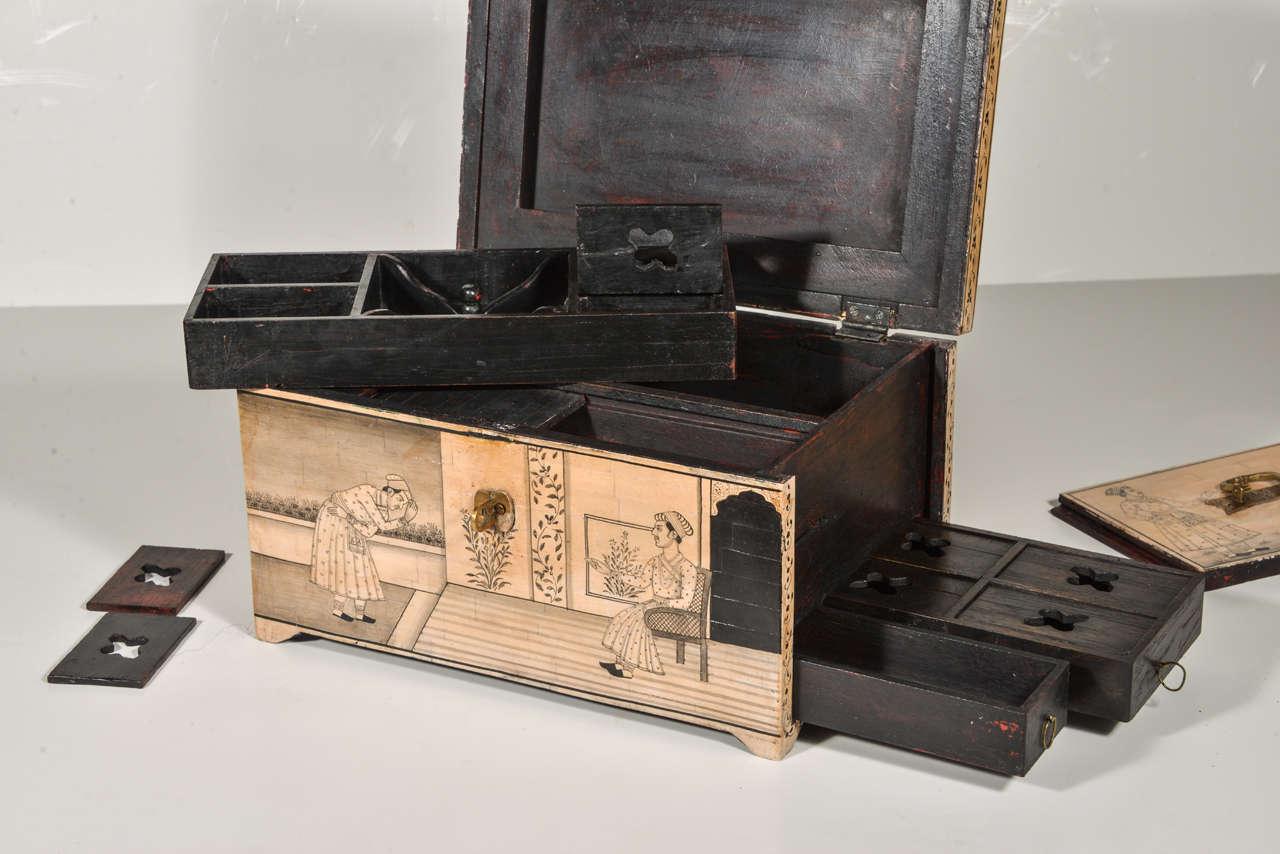 Wood Camel Bone Box For Sale