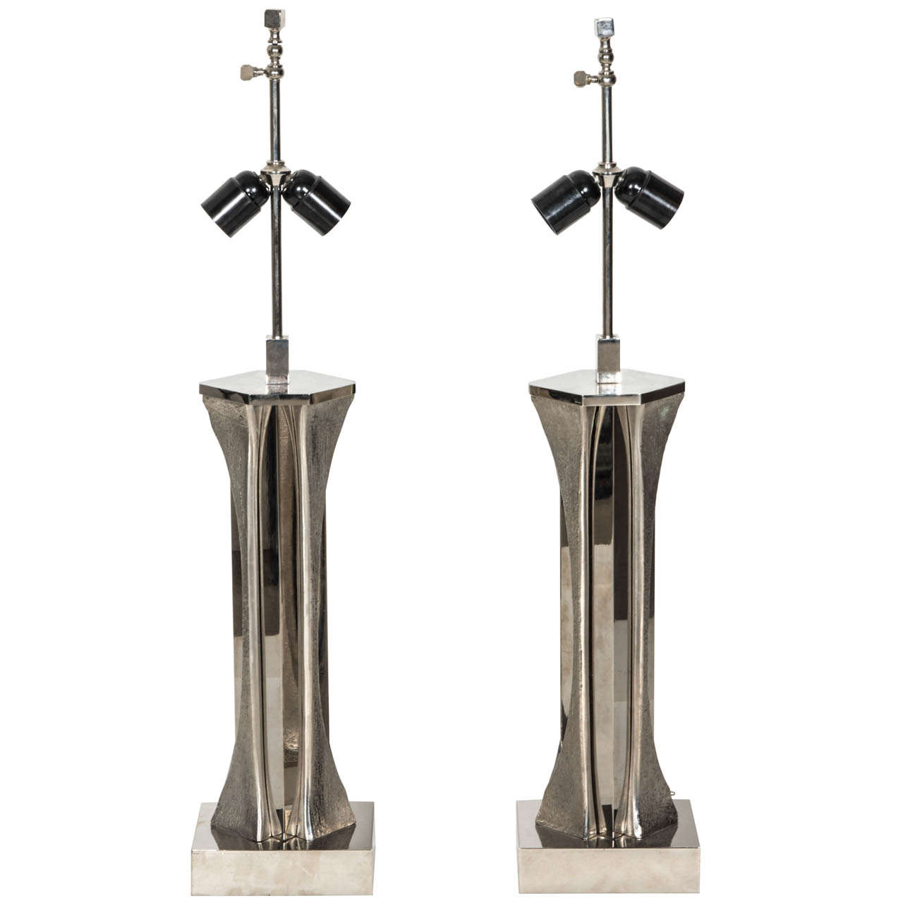 Amazing Pair of Table Lamps by Willy Daro
