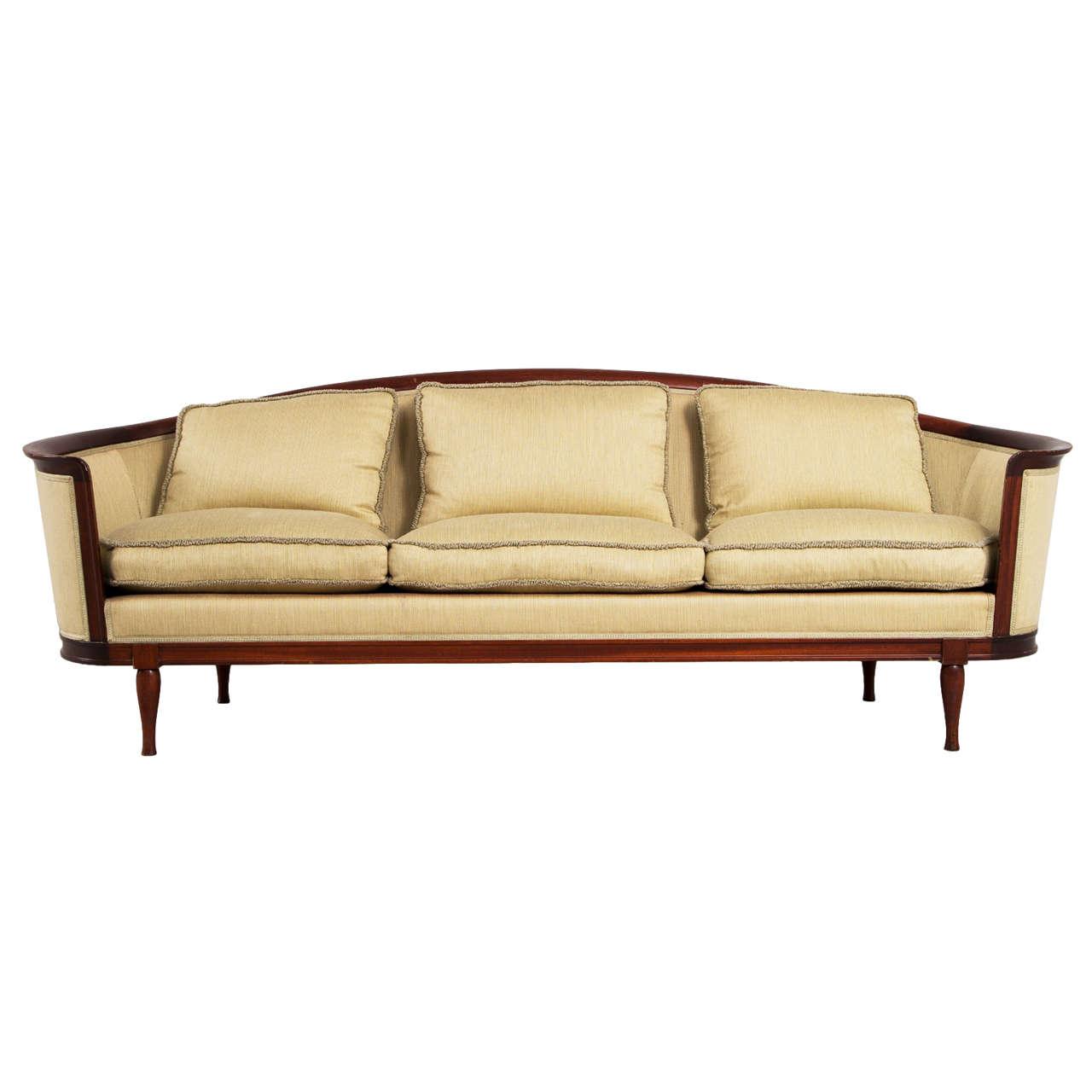 Elegantly curved scandinavian sofa 1930s at 1stdibs for Swedish sofa