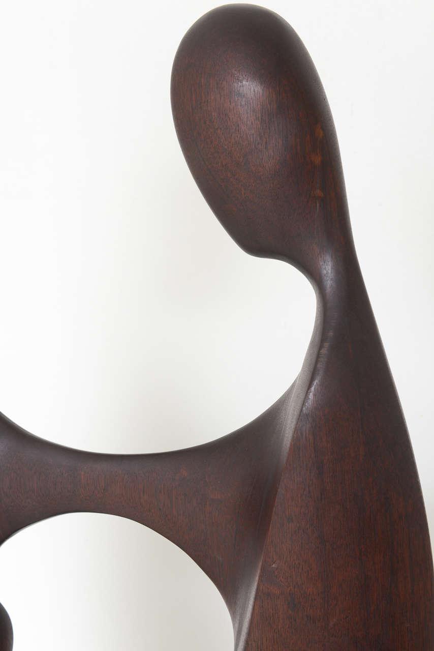 Travertine Mid Century Modern Sculpture by Gert Olsen Danish/American Artist For Sale