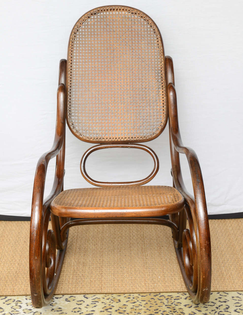 Original white painted bentwood rocking chair is no longer available - Vintage Thonet Bentwood Rocking Chair 3