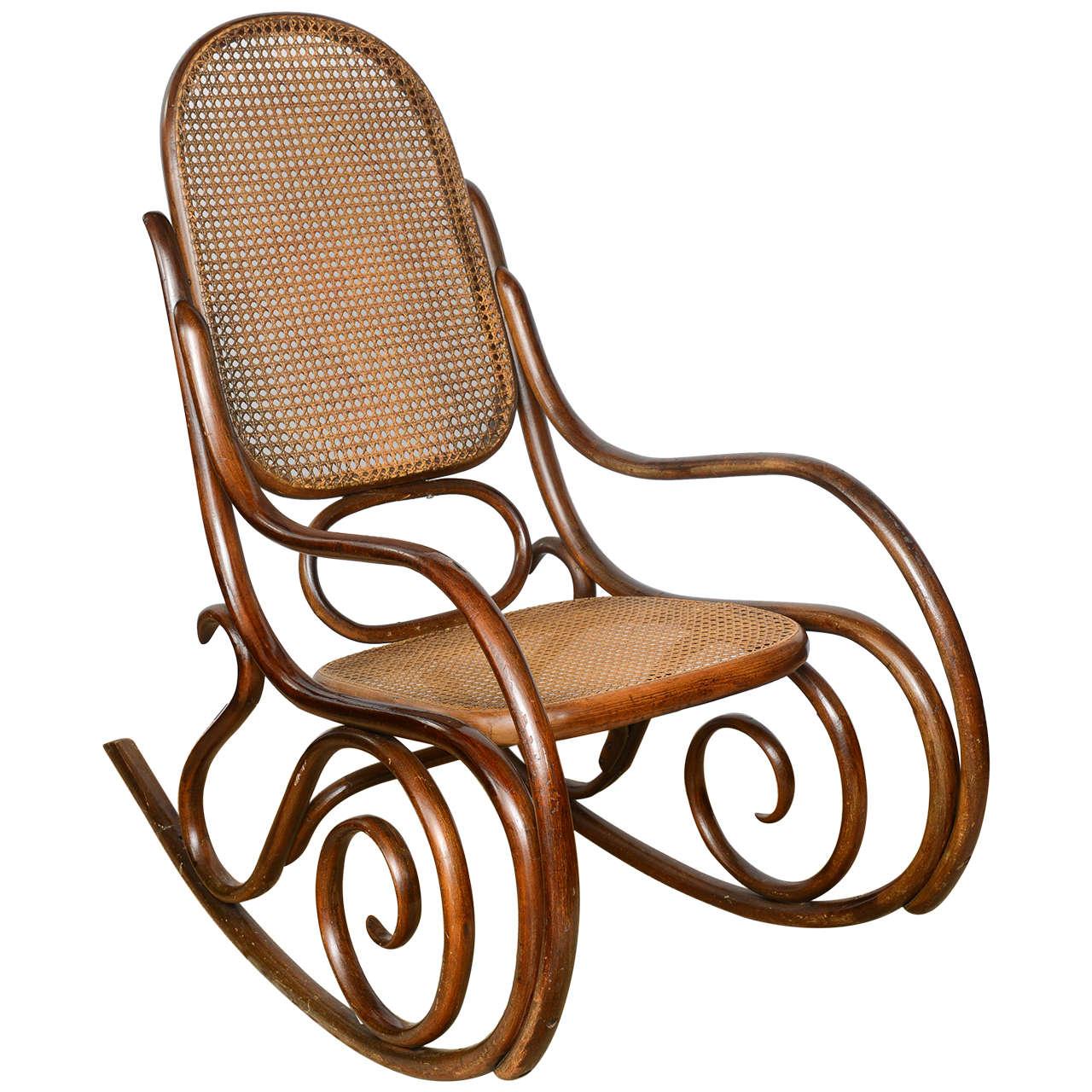 vintage thonet bentwood rocking chair at 1stdibs. Black Bedroom Furniture Sets. Home Design Ideas