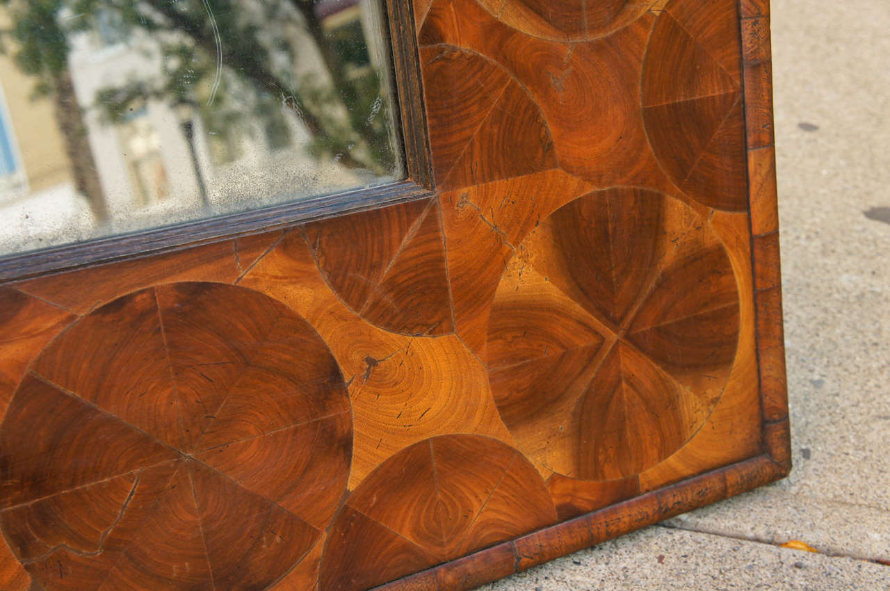 Dutch baroque style walnut vintage courting mirror at 1stdibs for Dutch baroque architecture
