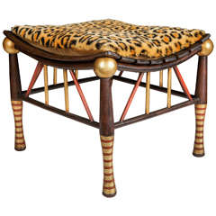 19th Century Thebes Stool