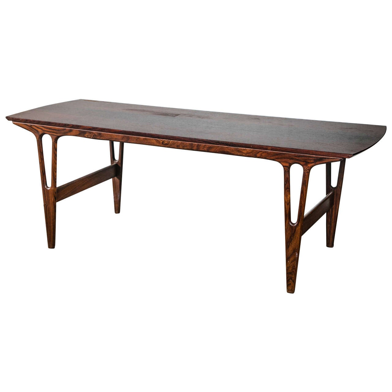 Rosewood Danish Mid Century Modern Coffee Table At 1stdibs