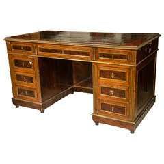 Antique Russian Neoclassical Knee Hole Desk