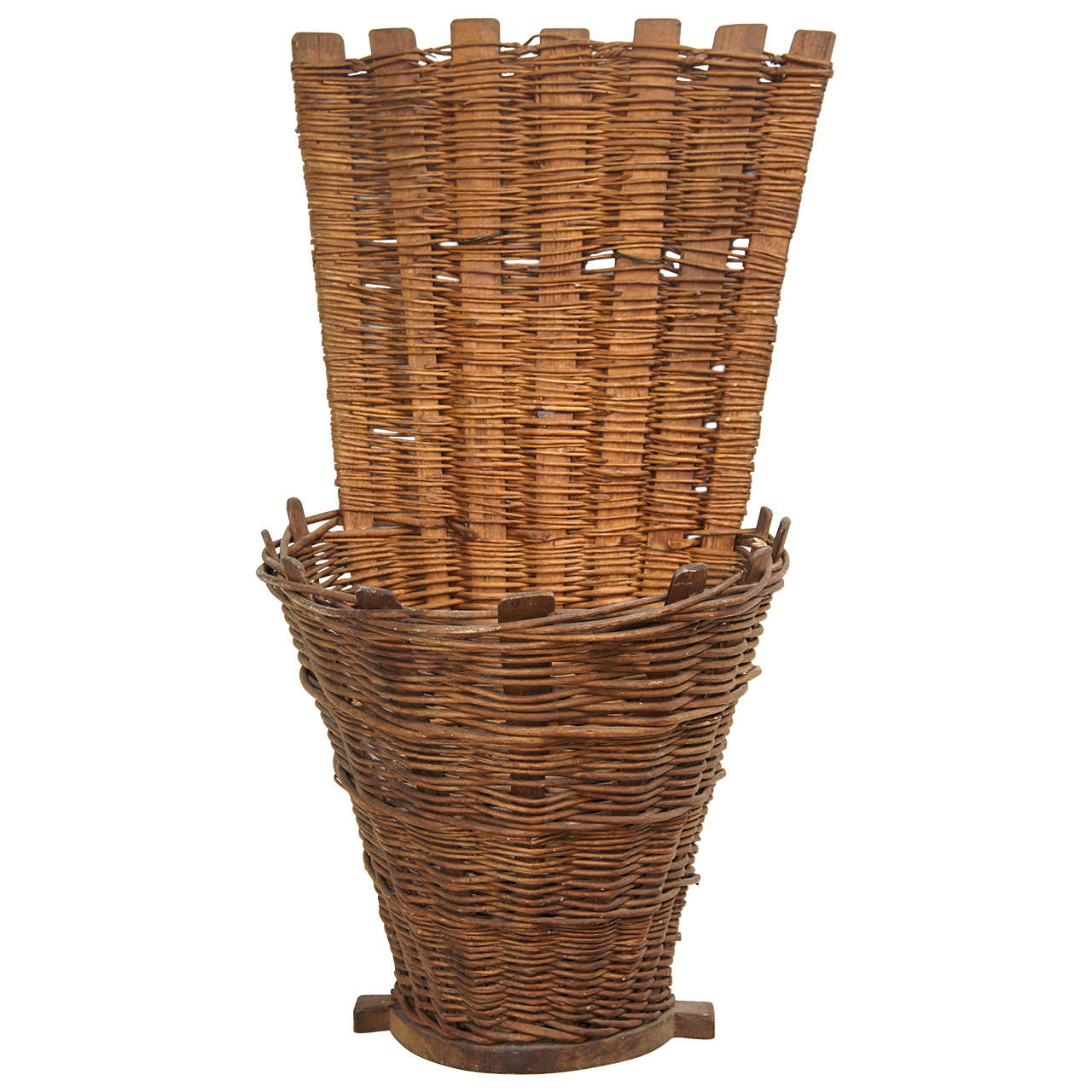 chilren 39 s french grape gathering basket at 1stdibs. Black Bedroom Furniture Sets. Home Design Ideas