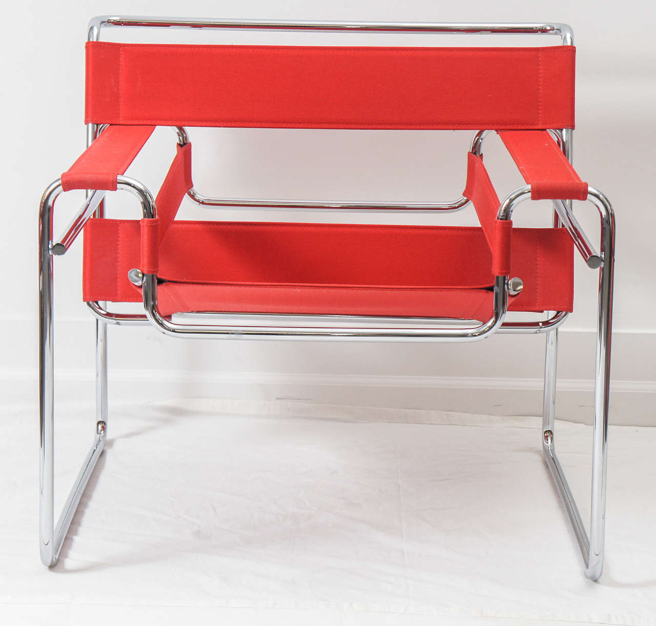 pair of knoll studio red wassily chairs model b3 for sale at 1stdibs