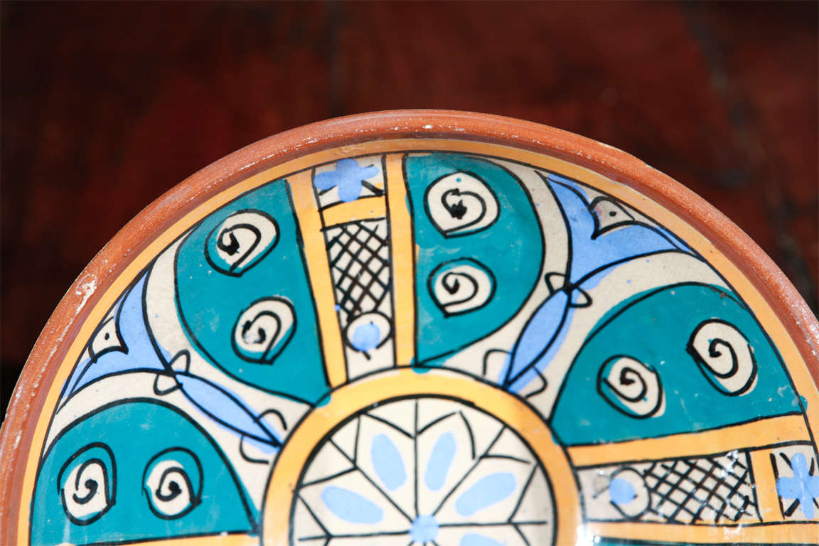 Moroccan Antique Pottery Bowl For Sale 1