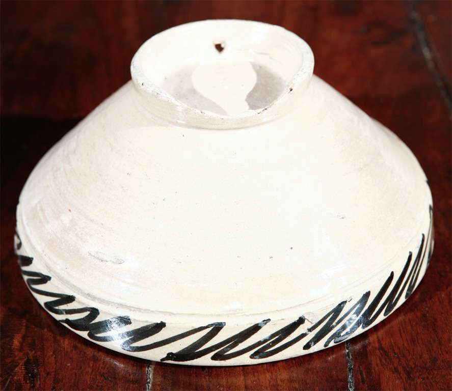 Moroccan Antique Pottery Bowl For Sale 2