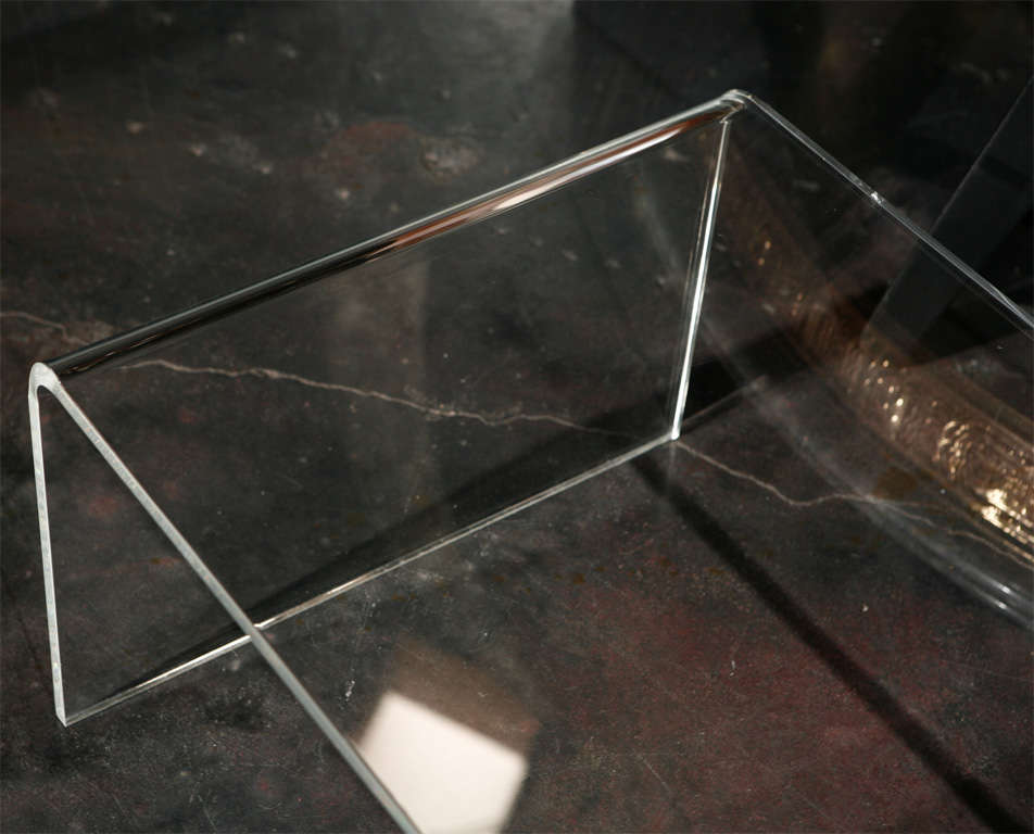 Waterfall Lucite Coffee Table At 1stdibs