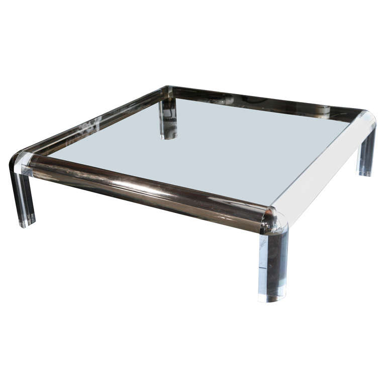 X mg for Large lucite coffee table