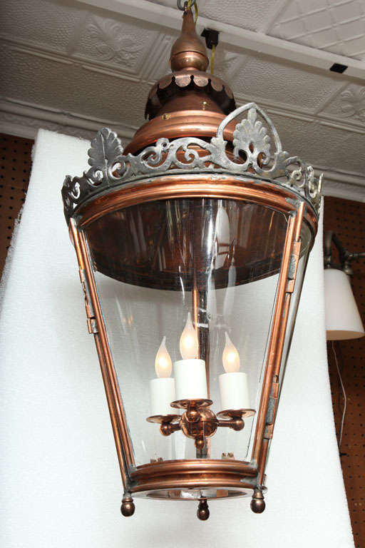 British Pair of Conically Shaped Lanterns For Sale