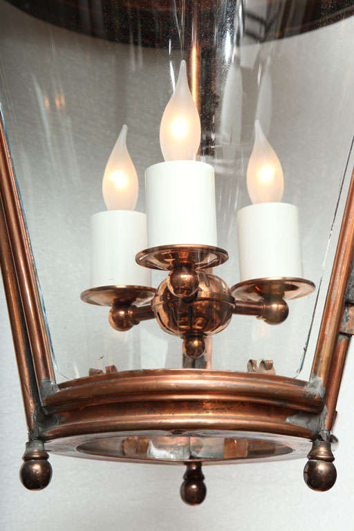 Pair of Conically Shaped Lanterns For Sale 1