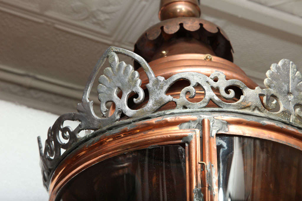 Pair of Conically Shaped Lanterns For Sale 2