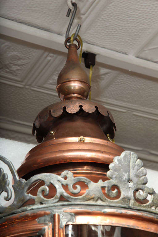 Pair of Conically Shaped Lanterns For Sale 4