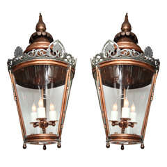 Pair of Conically Shaped Lanterns