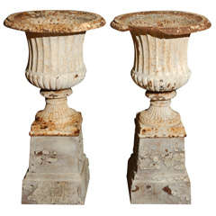 Pair of English Garden Urns, circa 1840