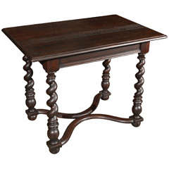 Late 19th Century English Barley Twist End or Side Table