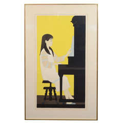 "Will Barnet ""Girl at Piano"" (1973) Silkscreen"