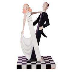 Donn Russell 'Fred Astaire and Ginger Rogers' Wooden Sculpture