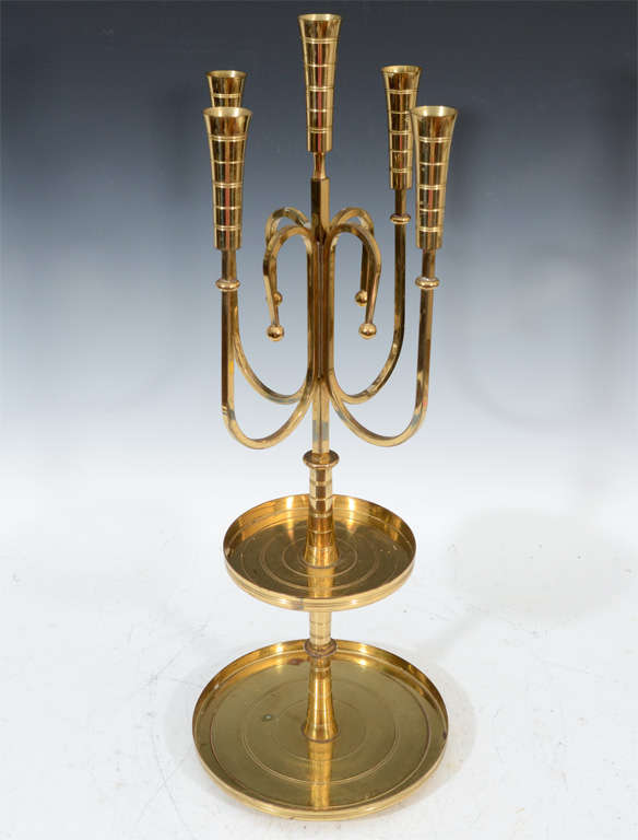 Pair of Mid Century Tommi Parzinger Dorlyn Brass Candelabra image 2