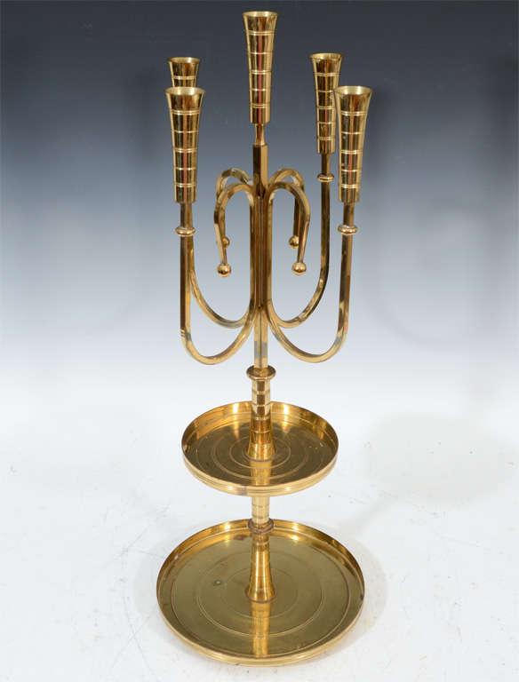 Pair of Mid Century Tommi Parzinger Dorlyn Brass Candelabra image 2