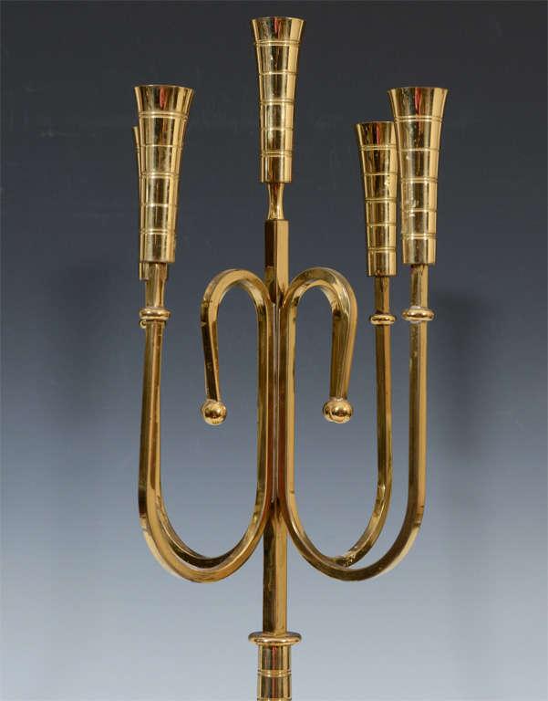 Pair of Mid Century Tommi Parzinger Dorlyn Brass Candelabra image 4