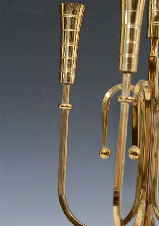 Pair of Mid Century Tommi Parzinger Dorlyn Brass Candelabra image 5