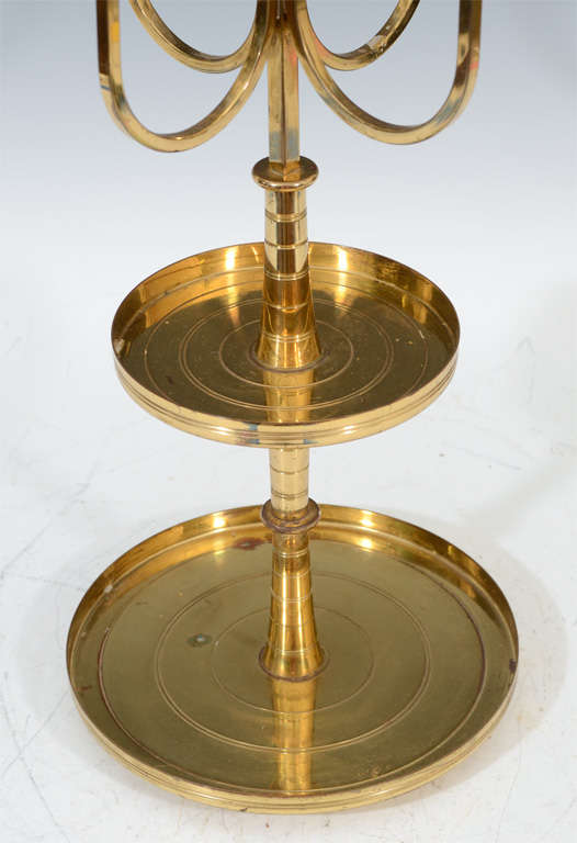 Pair of Mid Century Tommi Parzinger Dorlyn Brass Candelabra image 6