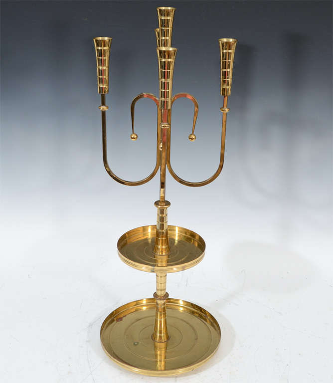 Pair of Mid Century Tommi Parzinger Dorlyn Brass Candelabra image 7