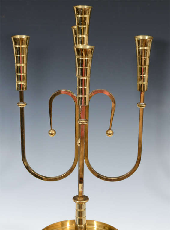 Pair of Mid Century Tommi Parzinger Dorlyn Brass Candelabra image 8