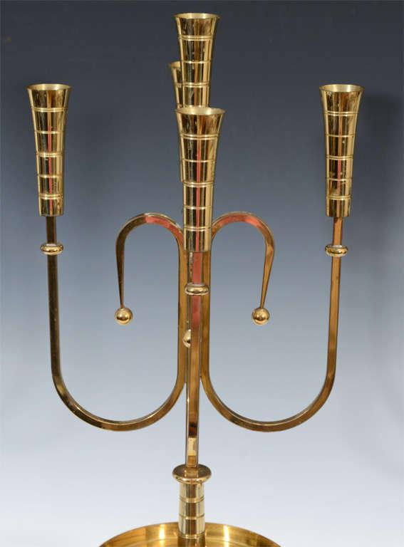 Pair of Mid Century Tommi Parzinger Dorlyn Brass Candelabra image 8