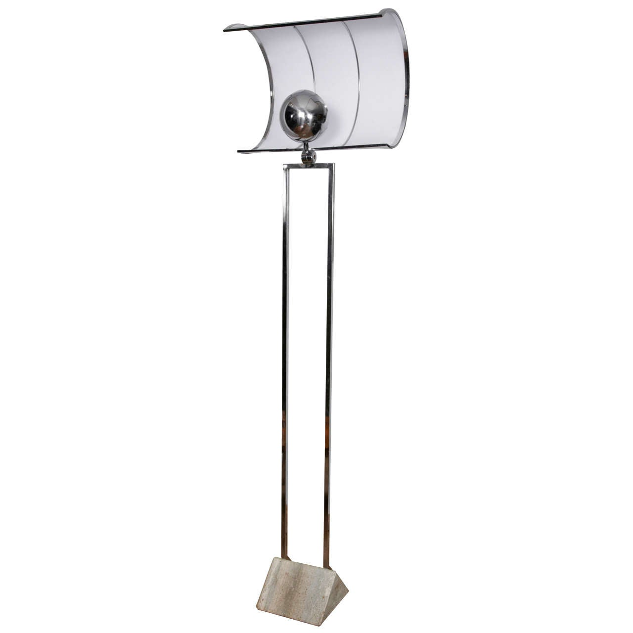 An unusual floor lamp with quotfailquot shaped shade at 1stdibs for Floor lamp quirky