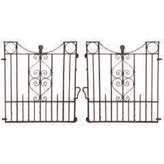 Pair of Wrought Iron Heavy Stock Gates