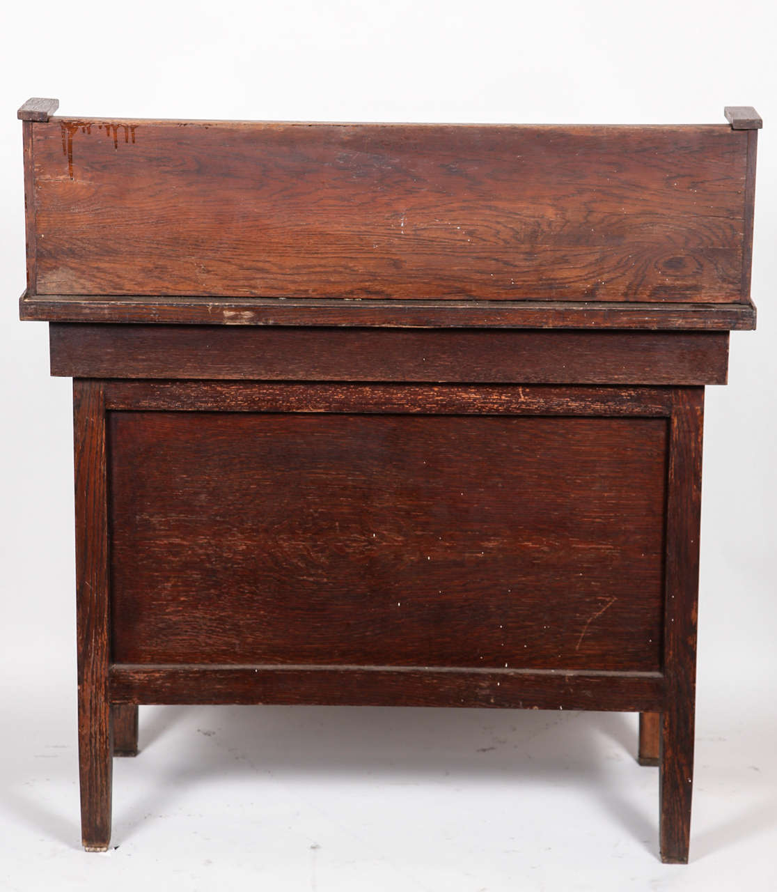 20th Century 1800s Wooden Bank Table With Pigeon Holes And Pencil Tray For