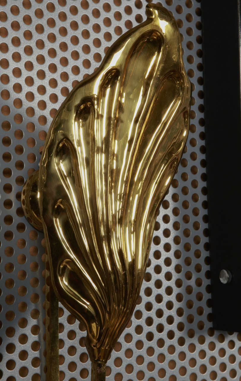 Pair of Leafs Sconces by Tomasso Barbi In Excellent Condition For Sale In Paris Saint Ouen, FR