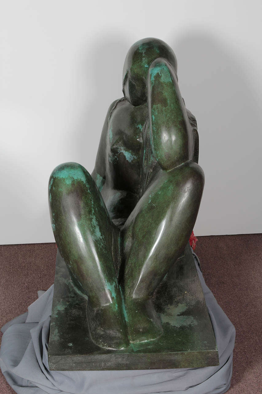 French Monumental Original Bronze Sculpture