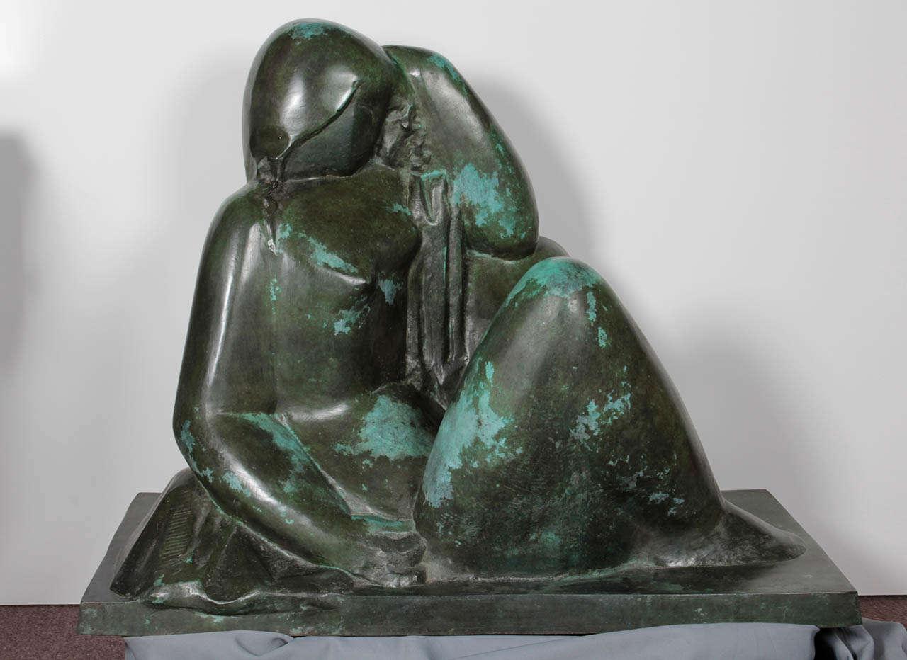 20th Century Monumental Original Bronze Sculpture