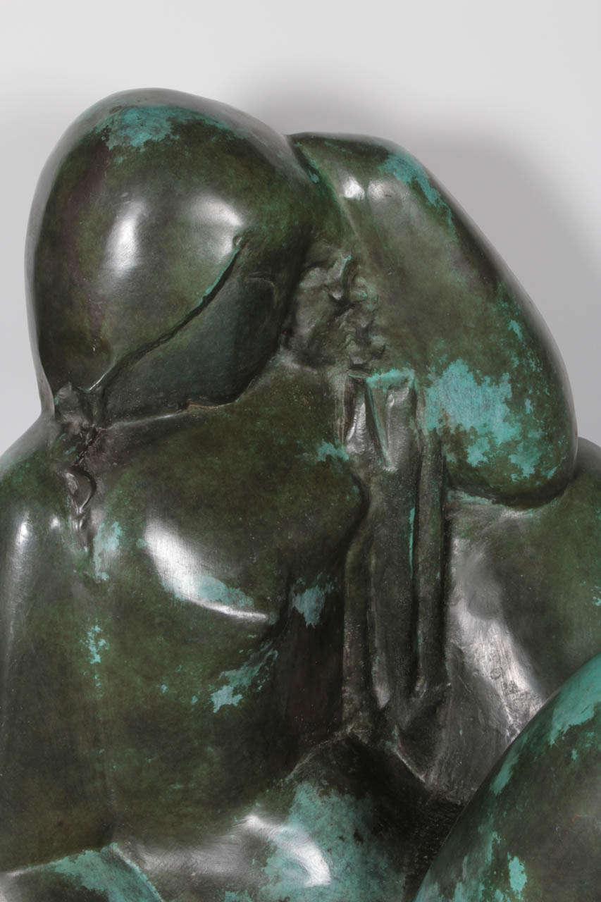 Art Deco Monumental Original Bronze Sculpture