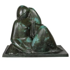 "Monumental Original Bronze Sculpture ""Le Reve"" by Joseph Csaky"