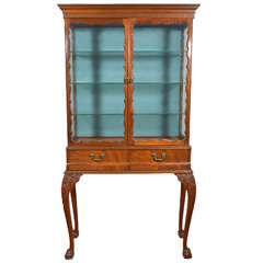 pair of 19th c English mahogany viewing cabinets