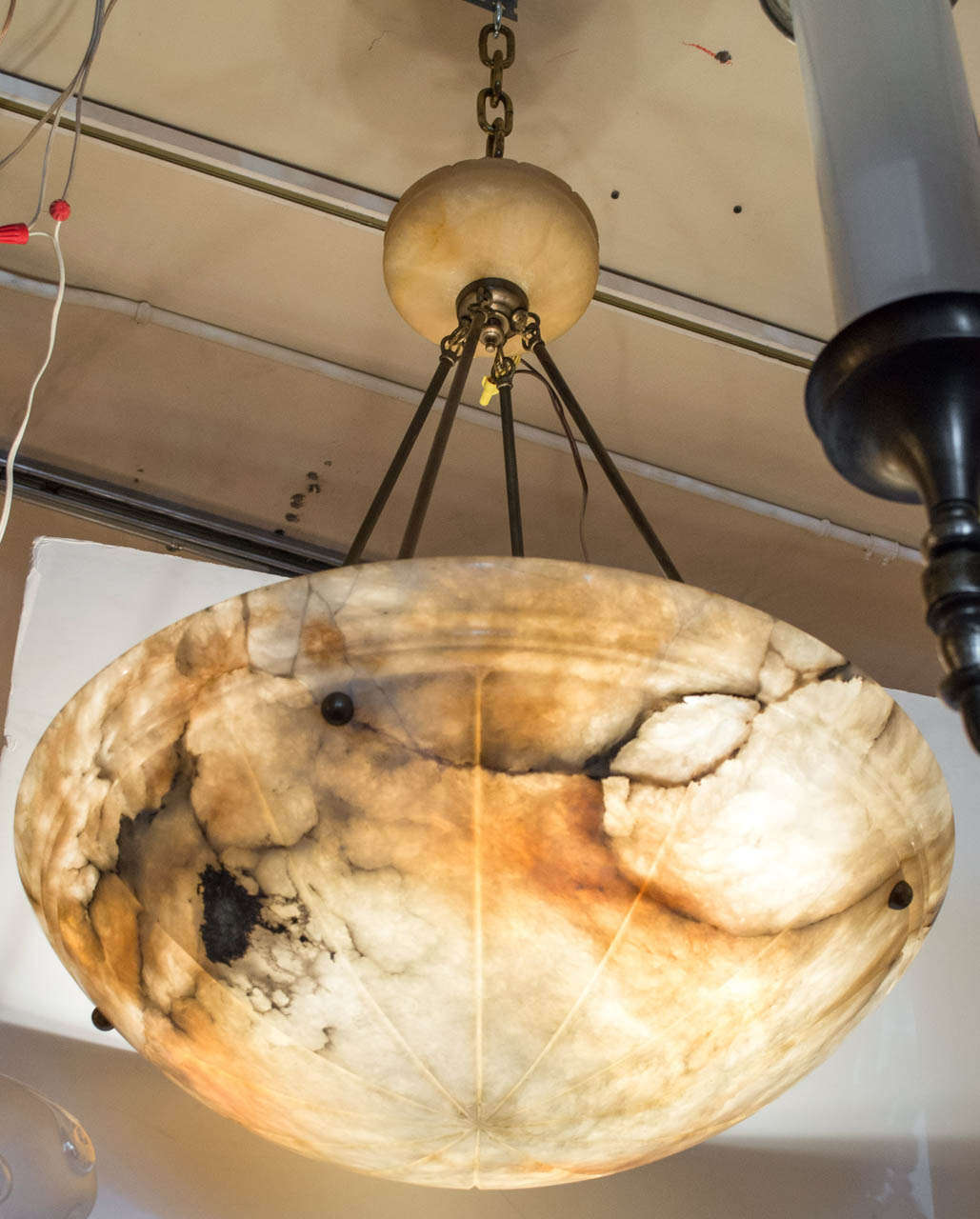 Super Luscious Large Alabaster Bowl Pendant Chandelier For We Try To Stay Objective In Our Title But As You Look At This