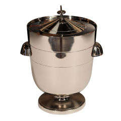 Tommi Parzinger Polished Nickel Ice Bucket