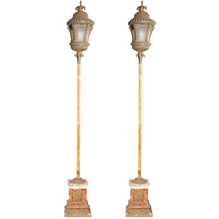 Metal Processional Lanterns from Lucca, Italy For Sale