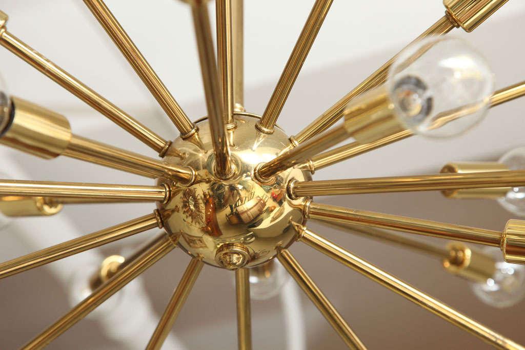 24 light starburst chandelier by majestic at 1stdibs. Black Bedroom Furniture Sets. Home Design Ideas