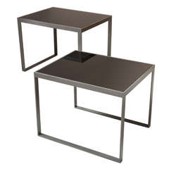 Near Pair of Steel Tables